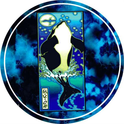 """Whale  - Round Sticker - 2 1/2"""" Round"""