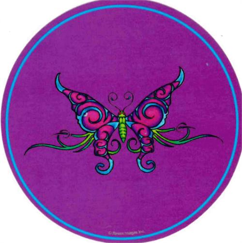 """Butterfly  - Round Sticker - 2 1/2"""" Round"""