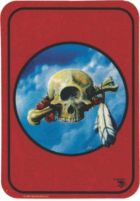 "Indian Skull Sticker - 2 1/2"" X 3 3/4"""