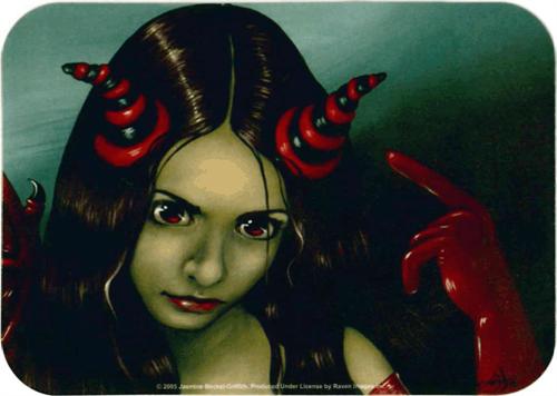 "Strangeling - Red Vinyl Fairy Sticker - 2 1/2"" X 3 3/4"""