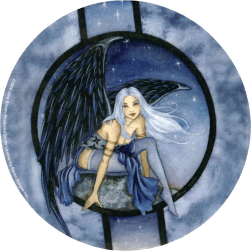 "Amy Brown - Dusk  Fairy  - Round Sticker - 2 1/2"" Round"