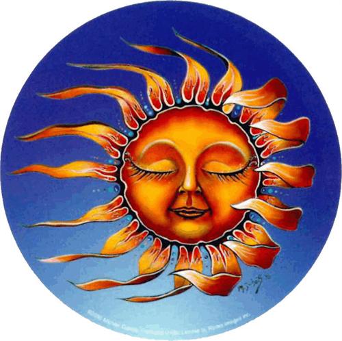 """Sleeping Sun  - Mike Dubois Round Sticker - 2 1/2"""" Round"""