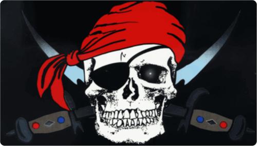 """Pirate - 3"""" X 5"""" - Sticker"""