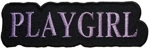 "Playgirl Embroidered Sew On Patch - 4"" X 1 1/4"" Image"
