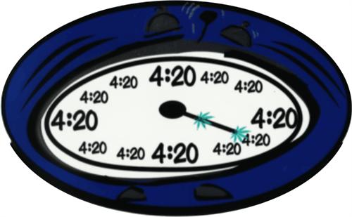 """4:20 - 3"""" X 5"""" - Sticker"""