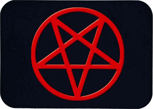 "Star In Circle Sticker - 2 1/2"" X 3 3/4"""