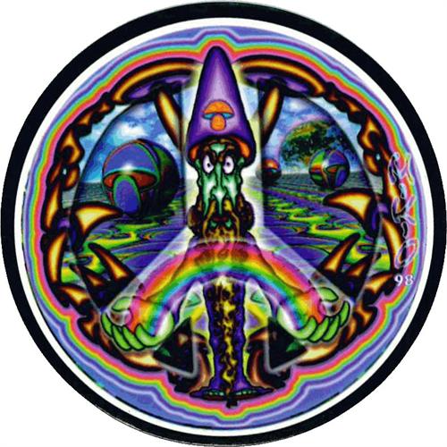 """Mushroom Wizard - Round Sticker - 2 1/2"""" Round"""