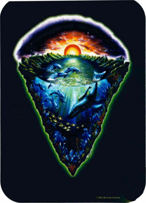 "Sunset Sea -  - Mike Dubois Sticker - 2 1/2"" X 3 3/4"""