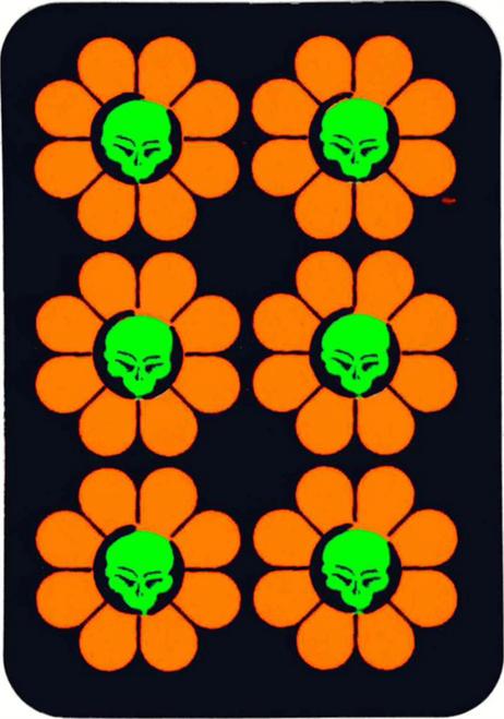 """Daisy Skulls Sticker - 2 1/2"""" X 3 3/4"""""""