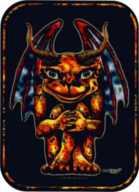 """Gargoyle - Mini Sticker - 2"""" X 2 3/4"""""""