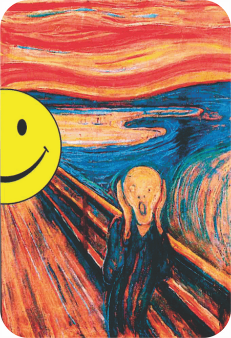 "Scream Sticker - 2 1/2"" X 3 3/4"""