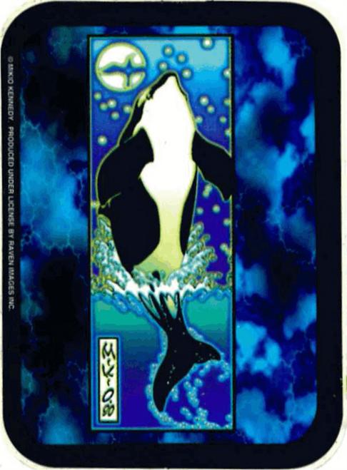 """Whale - Mikio Kennedy - Mini Sticker - 2"""" X 2 3/4"""""""