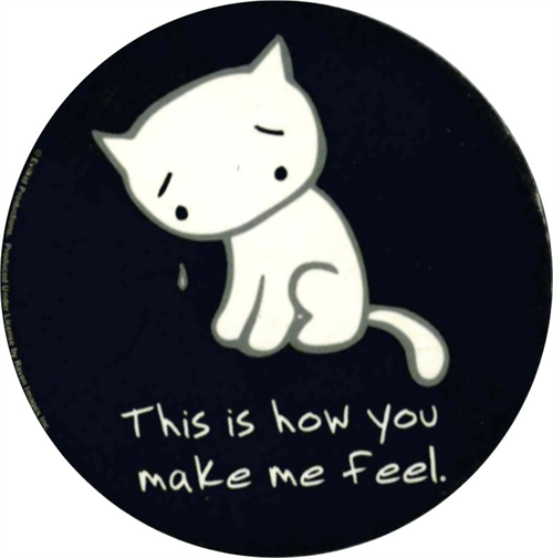 """How You Make Me Feel  - Round Sticker - 2 1/2"""" Round"""