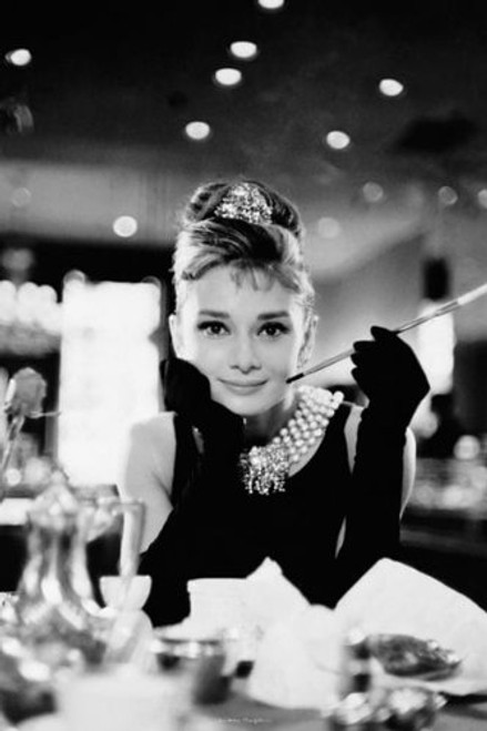 Audrey Hepburn Movie Breakfast at Tiffany's Poster Print - 24x36