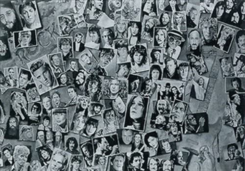 History Of Rock & Roll Collage by Tony Meers Poster 36x24 inches