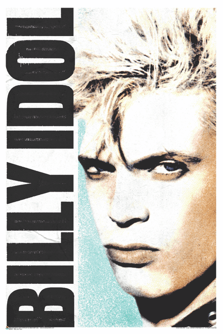 Billy Idol Face Poster 24x36 inches