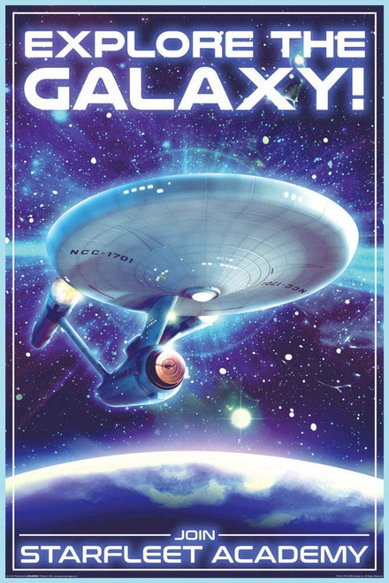 Star Trek - Travel Explore The Galaxy Poster 24x36 inches