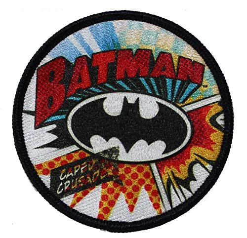 "Batman Burst - Iron On Embroidered Patch 3"" Round Image"