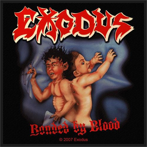 """Exodus - Bonded By Blood - Woven Sew On Patch 4"""" x 4"""" Image"""