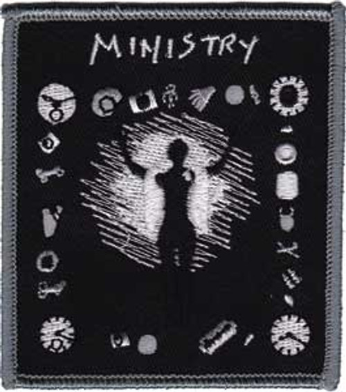 """Ministry Psalm 69 - Iron On Embroidered Patch 2.8"""" x 3.2"""" Image"""