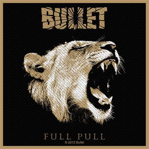 """Bullet Full Pull - Woven Sew On Patch 4"""" x 3.75"""" Image"""