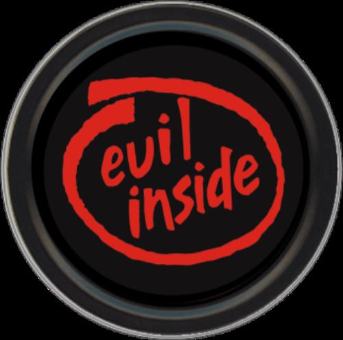 """Stash Tins - Evil Inside Sticker - 3.5"""" Round Storage Container"""