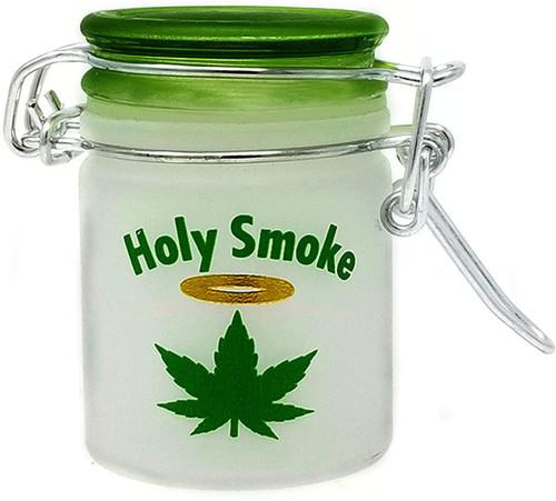 Airtight Glass Mini Stash Jar 1.5 Oz - Holy Smoke Design