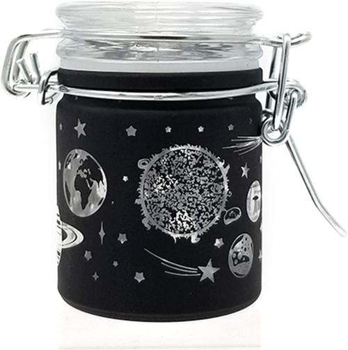 Airtight Glass Mini Stash Jar 1.5 Oz - Galaxy Design