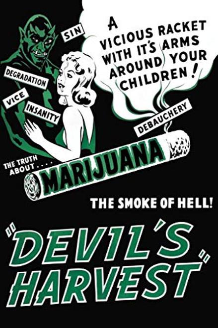 Devils Harvest Marijuana Retro Movie Art Print Poster 24x36