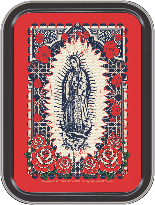 """Stash Tins - Guadalupe Storage Container 4.37"""" L x 3.5"""" W x 1"""" H"""