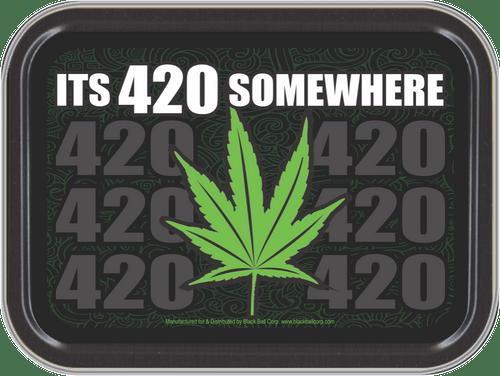 "Stash Tins - It's 420 Somewhere Storage Container 4.37"" L x 3.5"" W x 1"" H"