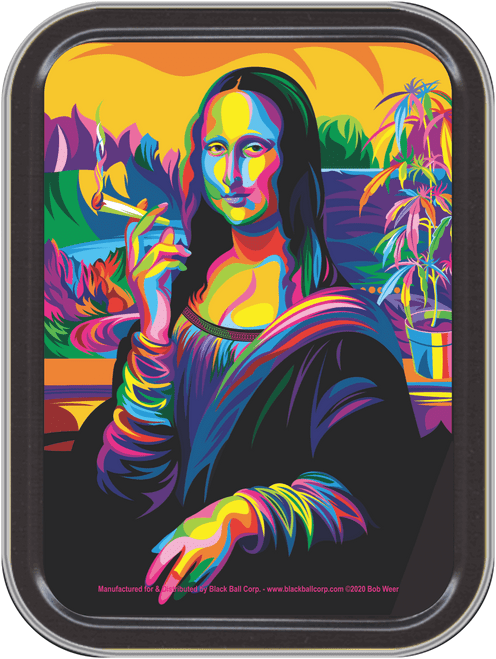 """Stash Tins - Mona Lisa Joint Storage Container 4.37"""" L x 3.5"""" W x 1"""" H"""