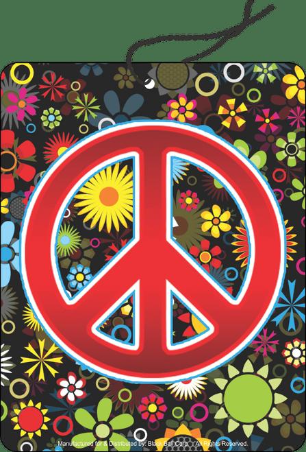 Road Rage Air Freshener - Vanilla Scent - Peace Flowers
