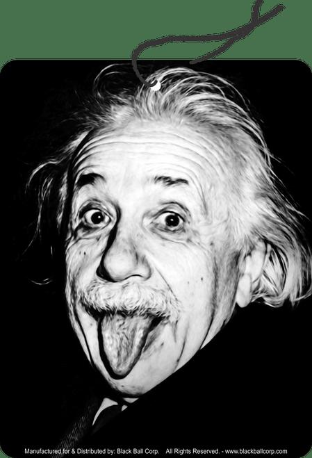 Road Rage Air Freshener - Vanilla Scent - Einstein Tongue Out