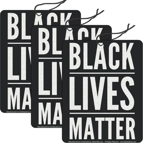 Road Rage Air Freshener - Vanilla Scent - Black Lives Matter - 3 Pack
