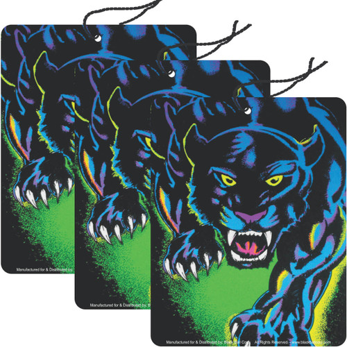 Road Rage Air Freshener - Vanilla Scent - King of the Night Panther - 3 Pack