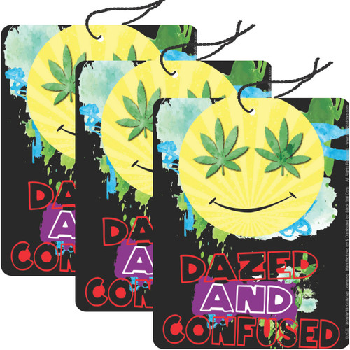 Road Rage Air Freshener - Vanilla Scent - Dazed and Confused - 3 Pack