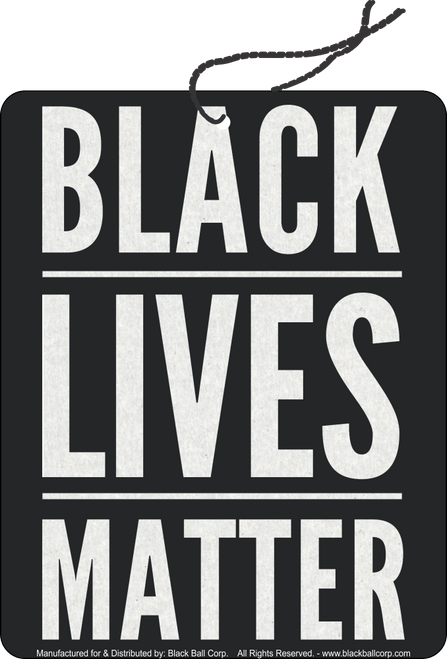 Road Rage Air Freshener - Vanilla Scent - Black Lives Matter
