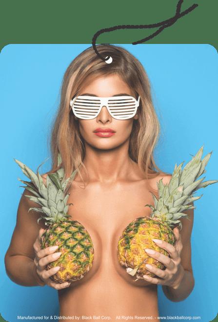 Road Rage Air Freshener - Vanilla Scent - Pineapple Girl