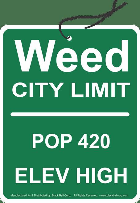 Road Rage Air Freshener - Vanilla Scent - Weed City Limits