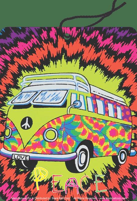Road Rage Air Freshener - Vanilla Scent - Peace Bus