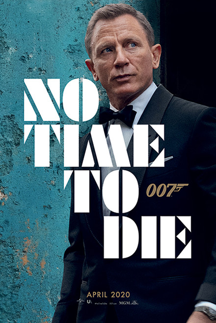 James Bond No Time to Die Poster 24x36 inch