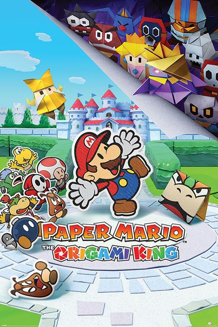 Paper Mario Origami King Poster 24x36 inch