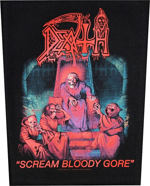 Death 'Scream Bloody Gore' Back Patch