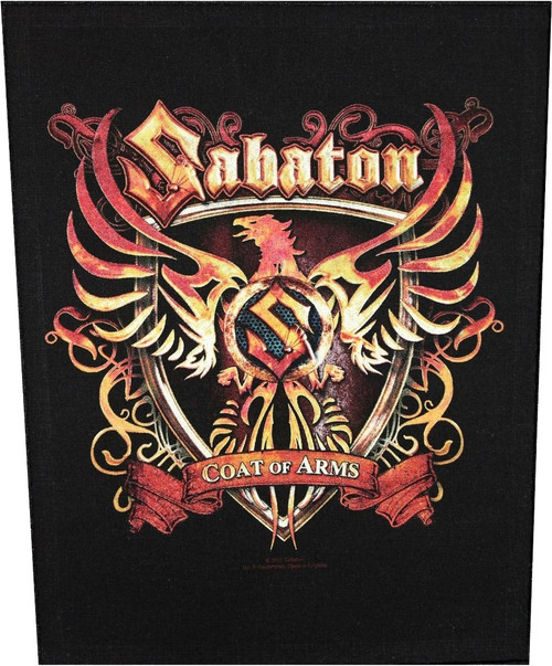Sabaton 'Coat Of Arms' Back Patch