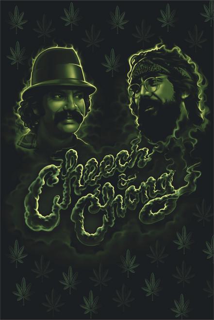 Cheech And Chong Green Smoke Poster 24 x 36 inches