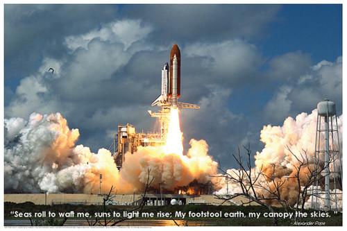 Space Shuttle Blastoff Educational Poster 36x24