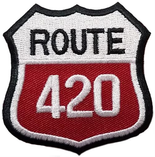 "Route 420 Embroidered Sew On Patch - 2 1/4"" X 2 1/4"" Image"