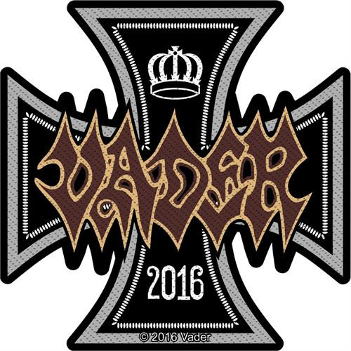 """Vader 2016 Iron Cross - Woven Sew On Patch 4"""" x 4"""" Image"""