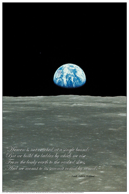 Earthrise Educational Poster 24x36